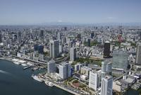 竹芝駅空撮 北東側より富士山を望む