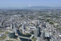横浜駅空撮 東側より富士山を望む