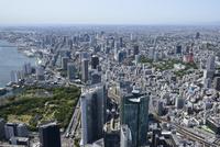 汐留駅,新橋駅空撮 北東側より品川方面へ