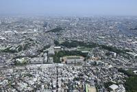 日吉駅空撮 北西側より慶應日吉・川崎方面へ