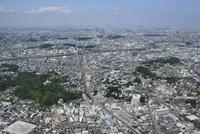 大倉山駅空撮 南西側より武蔵小杉・都心方面へ