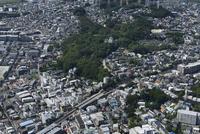 大倉山駅空撮 南東側より大倉山公園を望む