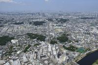 綱島駅空撮 南西側より日吉・都心方面へ 10684005045| 写真素材・ストックフォト・画像・イラスト素材|アマナイメージズ
