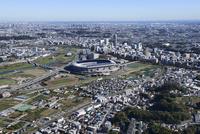 小机駅空撮 西側より新横浜方面へ
