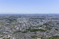新横浜駅空撮 南側より武蔵小杉・新宿方面へ