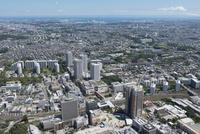 東戸塚駅空撮 北西側より東京湾方面を望む