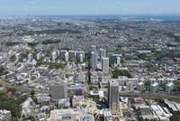 東戸塚駅空撮 西側より山手・東京湾方面を望む
