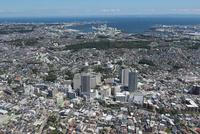 上大岡駅空撮 西側より東京湾を望む