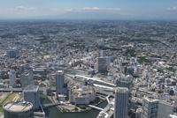 横浜駅空撮 東側より富士山方面を望む