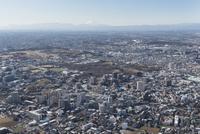 朝霞駅空撮 青葉台公園・朝霞中央公園・富士山方面へ