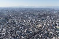 中板橋駅空撮 北東側より練馬・富士山方面へ