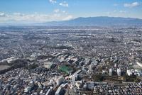 希望ヶ丘駅空撮 東側より富士山方面 10684008400| 写真素材・ストックフォト・画像・イラスト素材|アマナイメージズ