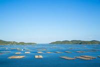 邑久町カキイカダのある風景 10685001043| 写真素材・ストックフォト・画像・イラスト素材|アマナイメージズ