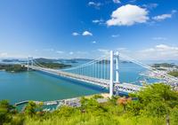 鷲羽山より瀬戸大橋 10685001204| 写真素材・ストックフォト・画像・イラスト素材|アマナイメージズ