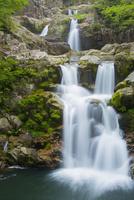 春の三段峡にて三段滝