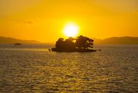 宍道湖嫁ヶ島の残照
