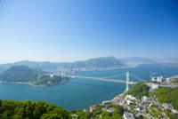 火の山公園より関門海峡 10685003623| 写真素材・ストックフォト・画像・イラスト素材|アマナイメージズ