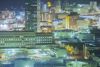 大正レトロ調の町並み夜景