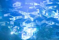 住宅地の夜景