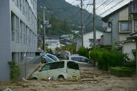 土砂災害の風景 10685004040| 写真素材・ストックフォト・画像・イラスト素材|アマナイメージズ