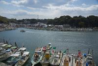 室津港の漁船