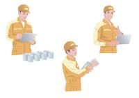 工場で働く作業着姿の男性