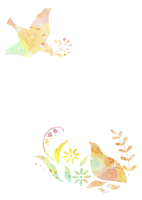 花と鳥 10690000003  写真素材・ストックフォト・画像・イラスト素材 アマナイメージズ