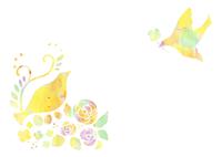 花と鳥 10690000004  写真素材・ストックフォト・画像・イラスト素材 アマナイメージズ