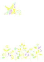植物と鳥 10690000013| 写真素材・ストックフォト・画像・イラスト素材|アマナイメージズ