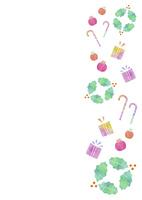 クリスマス小物のパターン