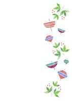 お正月小物のパターン 10690000043| 写真素材・ストックフォト・画像・イラスト素材|アマナイメージズ