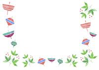 お正月小物のパターン 10690000045| 写真素材・ストックフォト・画像・イラスト素材|アマナイメージズ
