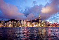香港,ビクトリア湾の夜景