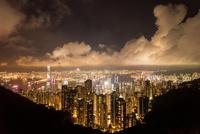 香港,ビクトリアピークからの夜景