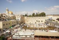 イスラエル,エルサレムの嘆きの壁と岩のドーム