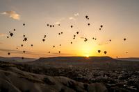 トルコ,カッパドキアの気球