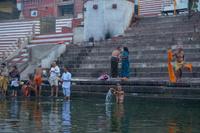 インド ガンジス川沿いのガート