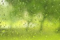 窓ガラスの雨滴