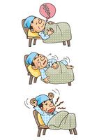 中年男性の生活、快眠と不眠
