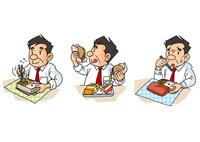 中年男性の生活、正しい食事・暴食・食欲不振