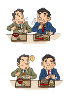 中年男性の生活、正しい食事・食欲不振