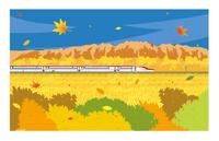 E6系新幹線こまち 秋の風景