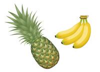果物 パイナップル バナナ