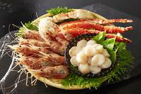 ホタテ,ボタン海老,タラバ蟹