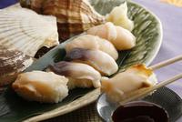 アワビ、ツブ、ホッキ寿司