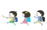 登下校中の小学生