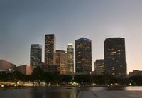 ロサンゼルスダウンタウン夕景
