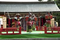 どんが祭り林家舞楽 10729003984| 写真素材・ストックフォト・画像・イラスト素材|アマナイメージズ