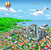 海辺の街とエネルギーと交通