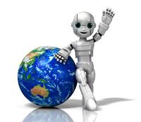 地球と少年ロボット
